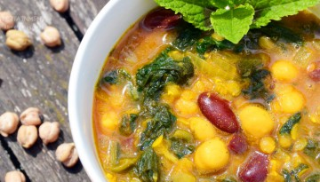 Kichererbsen-Spinat Suppe