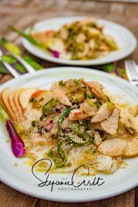 Zucchini Birnen Glasnudel