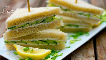 Gurkensandwiches