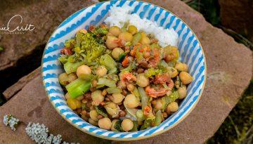 Kichererbsen-Linsen-Brokkolisuppe