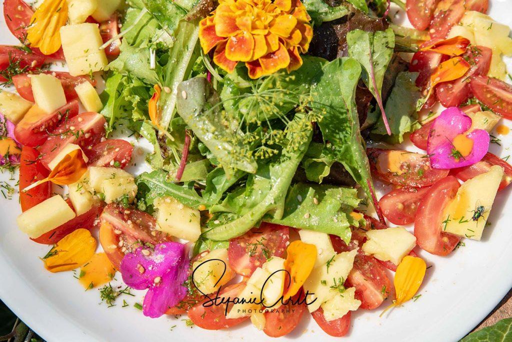 Tomaten-Mango Salat