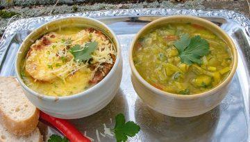 Scharfe Zwiebelsuppe