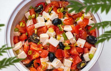 Tomaten-Feta-Salat